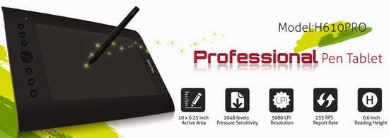 Video HD: Unboxing Huion H610 Pro Professional Pen Tablet