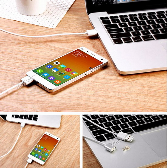 Magnetic 1M Micro USB Cable Sync/