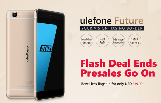 Ulefone Future Flash Deal Ends