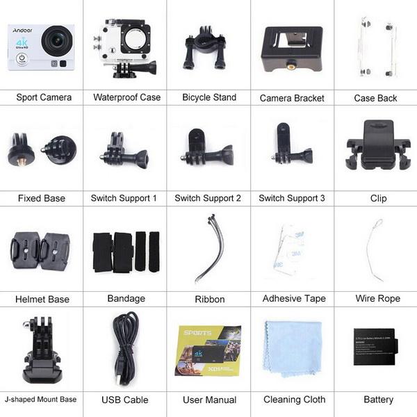 Andoer Ultra-HD 4K Action Camera 8