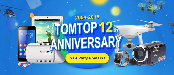 TomTop 12th Anniversary