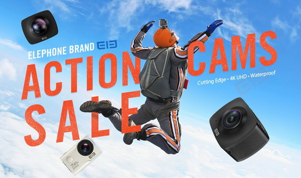 Elephone Brand Action Cams Flash Sale