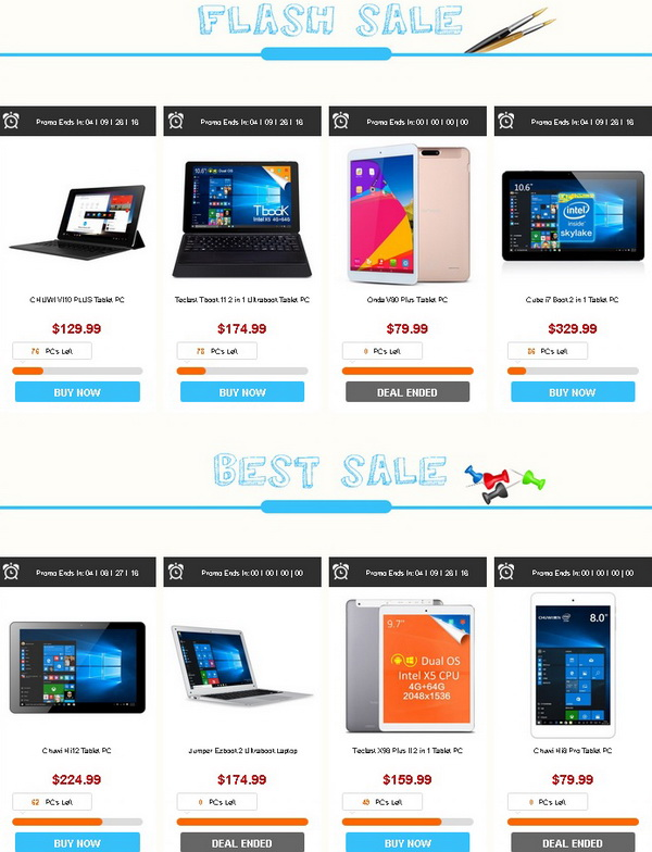Back to School Tablets Flash Sale