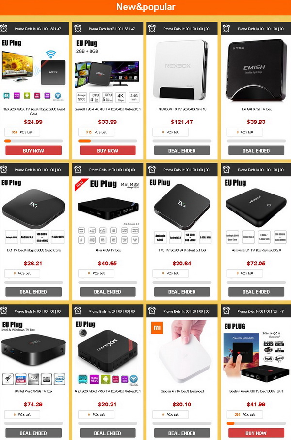 2016 TV Box Flash Sale