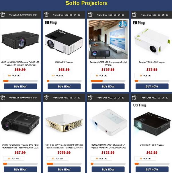 TV Boxes, Projectors