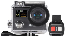 Dual Screen 12MP Sports Action Camera mic