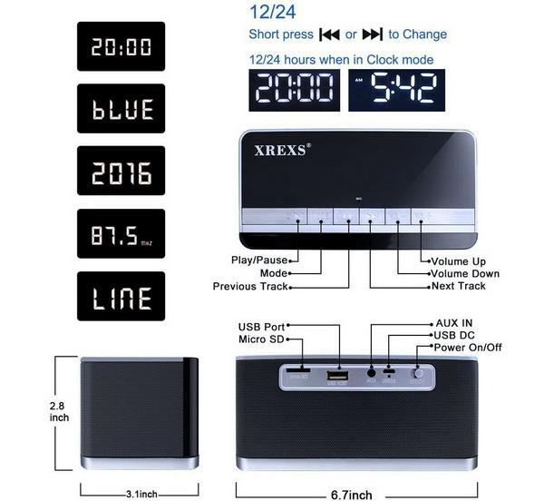 Xrexs Bluetooth Speaker 3