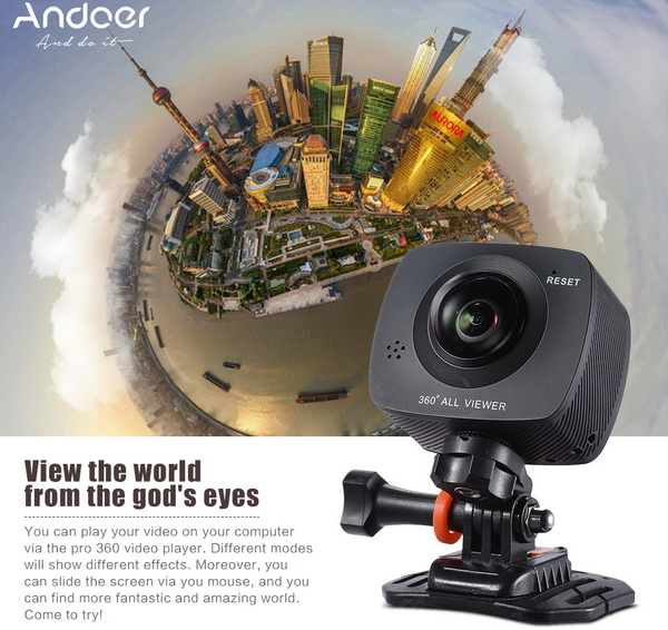 New! Andoer 360 All Viewer Sports Action Camera @ Camfere - China