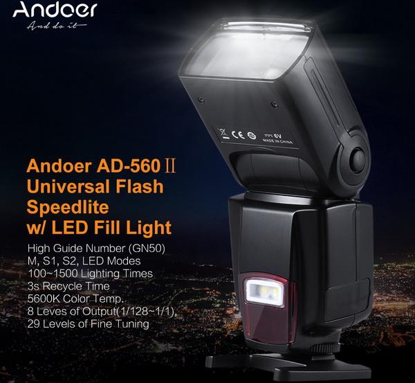 Andoer AD-560Ⅱ Universal Flash Speedlite