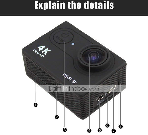 OEM H9 Ultra HD 4K Action Sports Camera