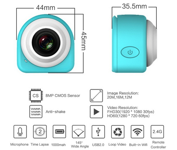 Super Mini Sticky WiFi Camera SDV-8570