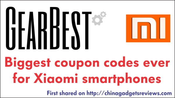 coupon codes xiaomi gearbest