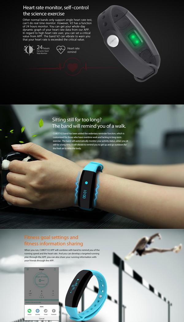 Cubot V2 Smart Wristband