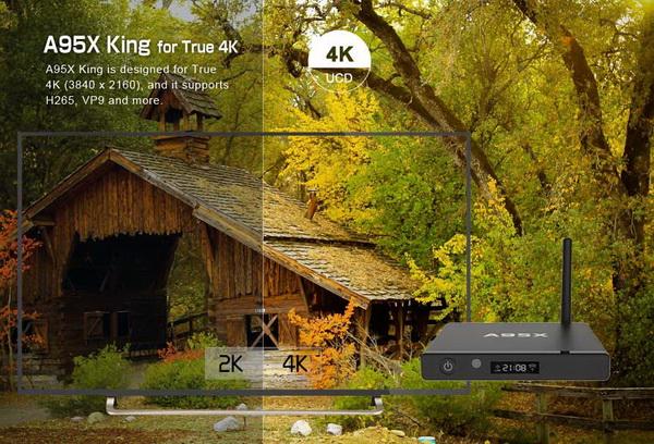 Kết quả hình ảnh cho Nexbox A95X King TV Box