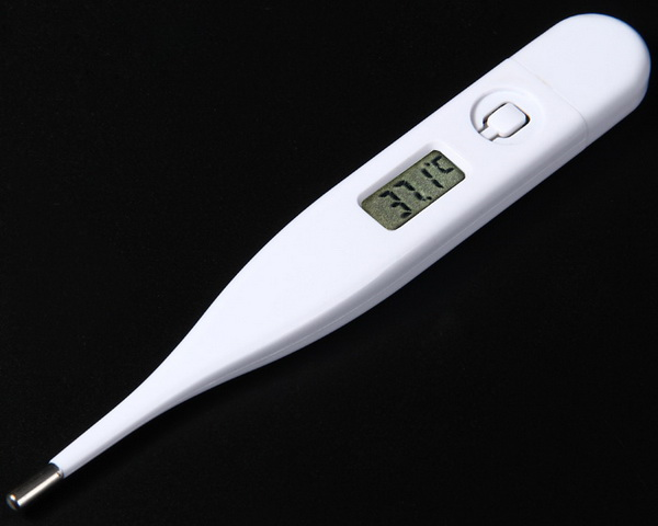 White LCD Screen Digital Thermometer