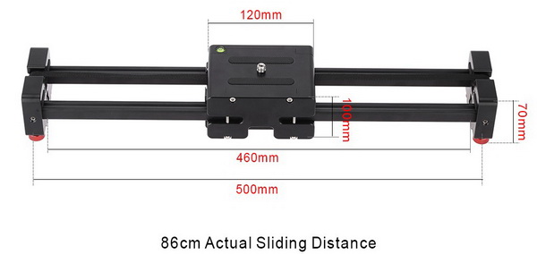 Andoer V2-500 Compact Retractable Track Dolly Slider