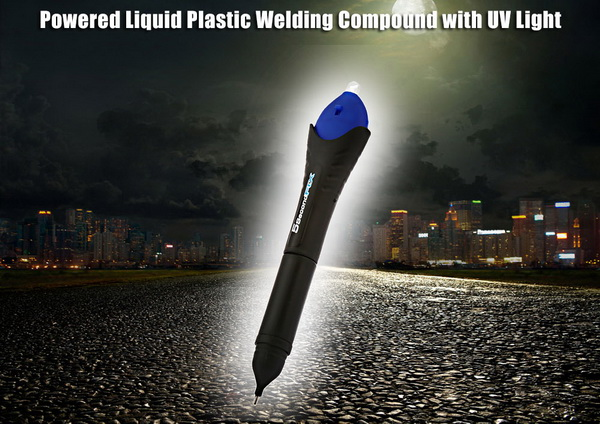 powered-liquid-plastic-welding-compound-with-uv-light