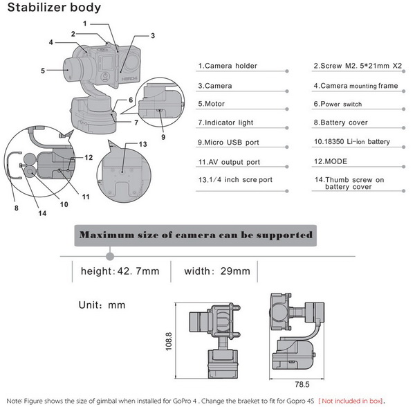 Zhiyun Rider-M Gimbal Stabilizer