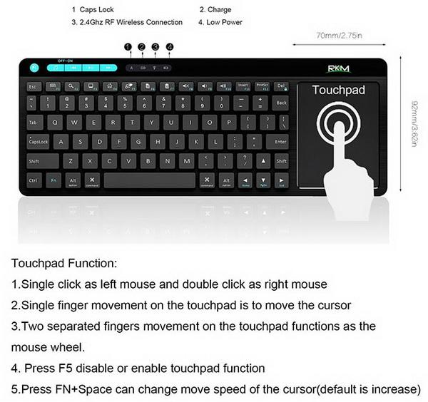 Rikomagic K8 An Impressive Wireless Keyboard With