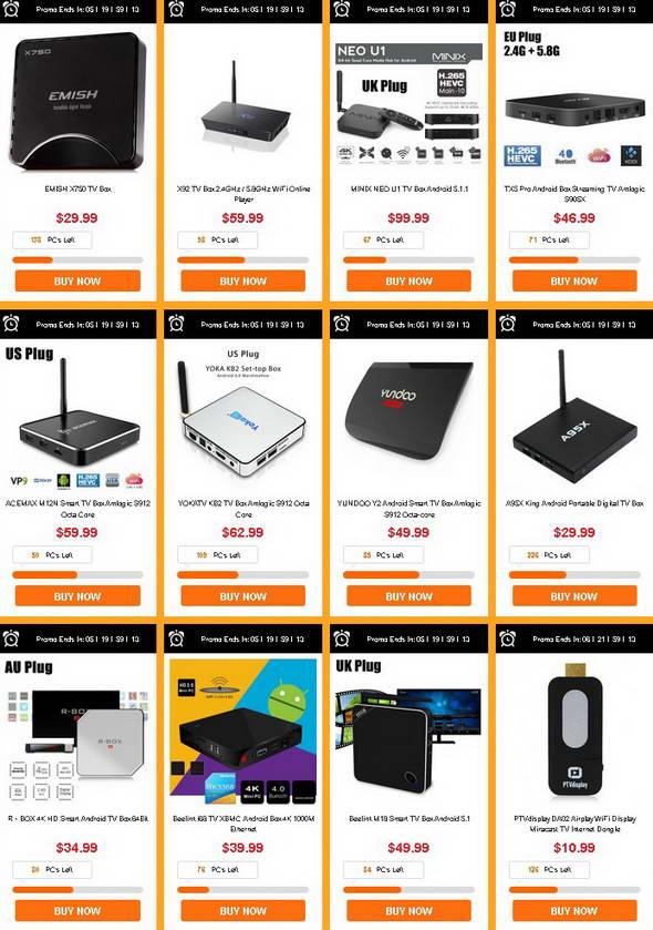 TV Box Flash Sale