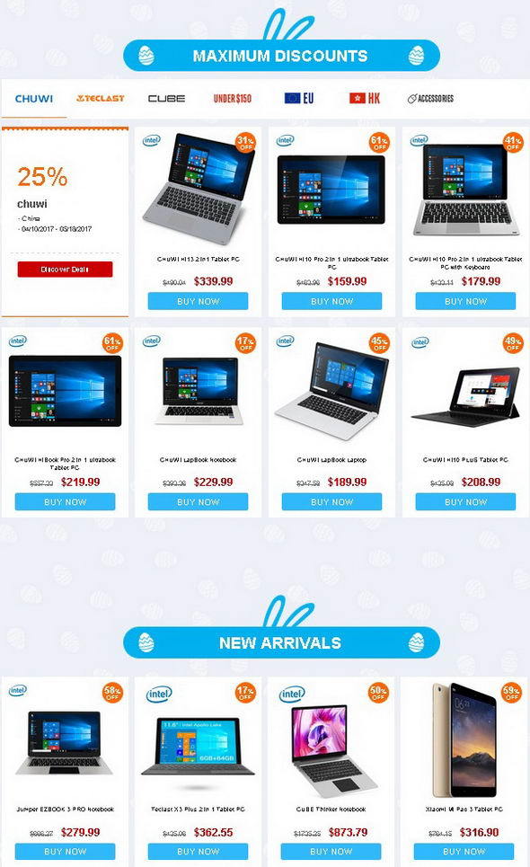 Easter Tablet Sale