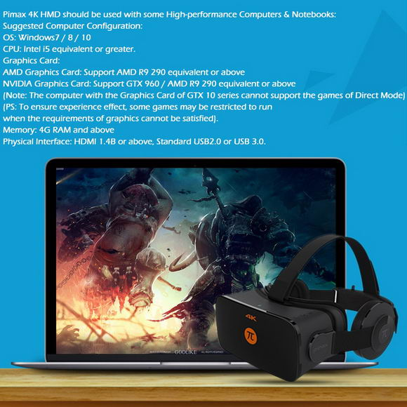 Pimax 4K HMD VR Headset