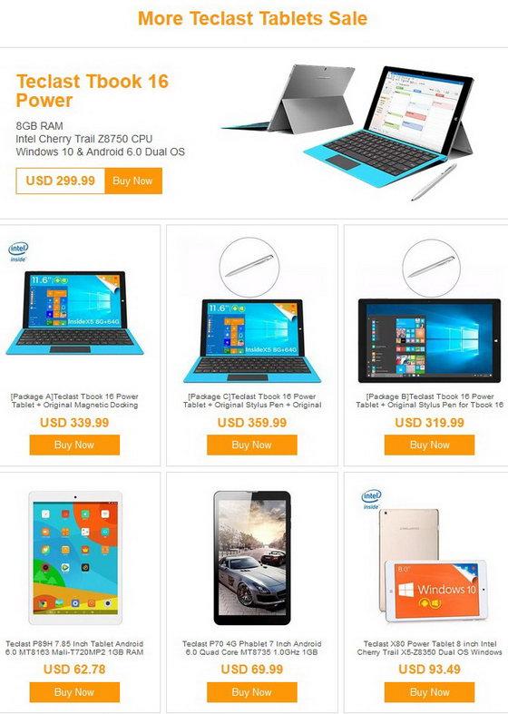 Teclast Brand Sale