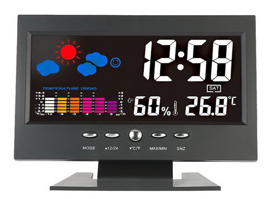 LCD Digital Temperature Clock