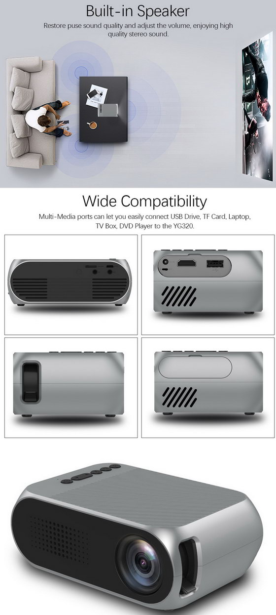 YG320 Mini Portable LED Projector