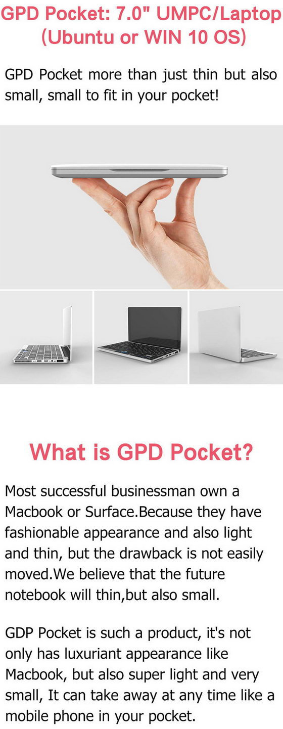 GPD Pocket Mini Laptop