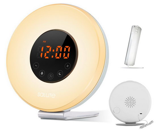 best deal wake up light salute sunrise simulator alarm clock for only 38 china gadgets reviews. Black Bedroom Furniture Sets. Home Design Ideas