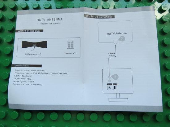 Kingbox Indoor HDTV Antenna