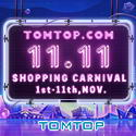 11.11 Shopping Carnival Sales with Big Discount @ Tomtop