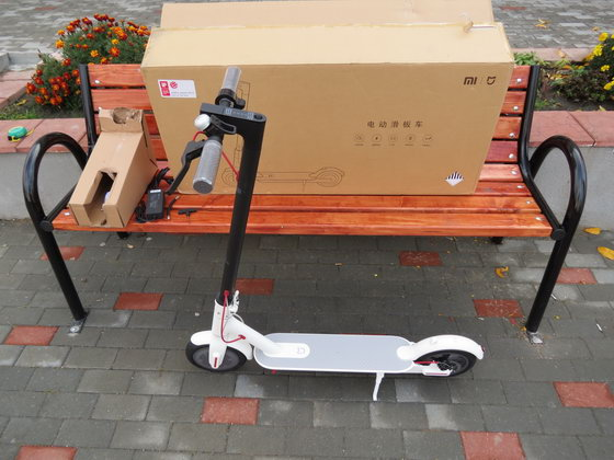 Unboxing Xiaomi M365 Folding Electric Scooter - China