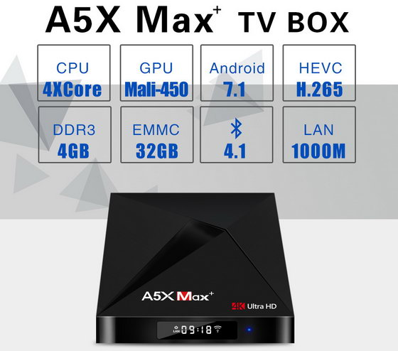 Download Android Nougat 7 1 2 firmware for A5X Max+ TV Box - China