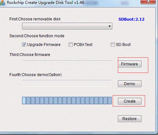 Rockchip Create Upgrade Disk Tool