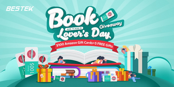 Book Lover S Day Giveaway Bestek China Gadgets Reviews