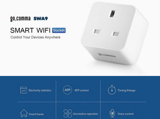 Coupon Code for Gocomma SWA9 Mini WiFi Smart Socket Plug