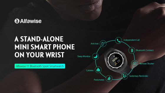 Best Buy! Alfawise Y1 Bluetooth Sport Smartwatch Flash Sale