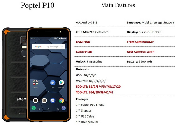 Poptel P10