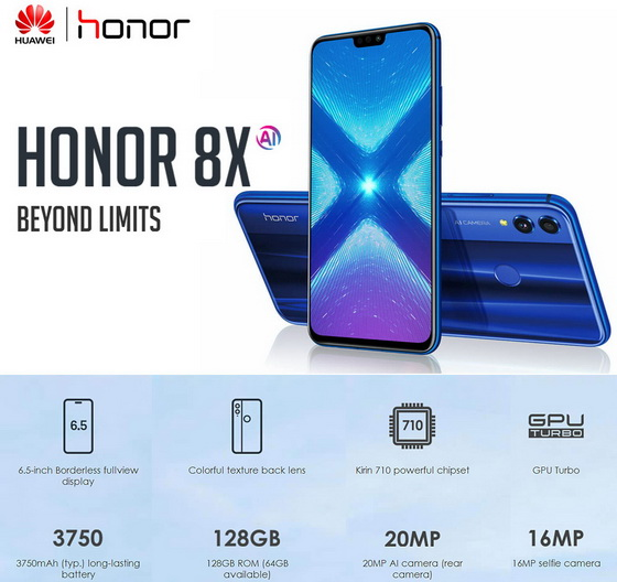 Deal of the Day! HUAWEI Honor 8X 4G Phablet @ eBay - China