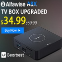 Alfawise A8X Android 9.0 3D TV BOX Flash sale for only $33.99