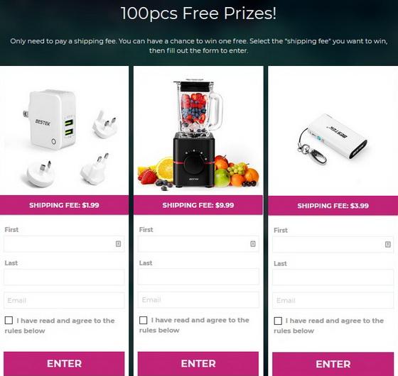 100pcs Free Prizes