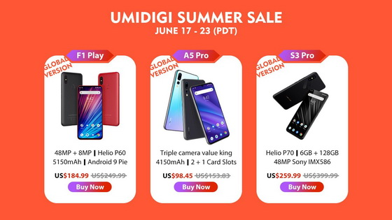 UMIDIGI Summer Sale