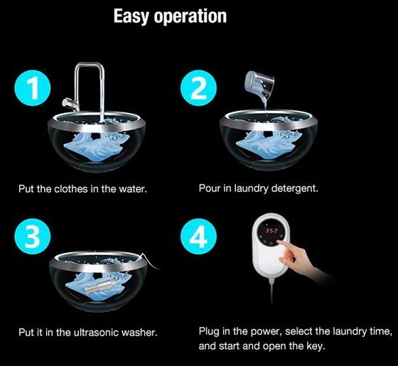 Ultrasonic Smart Washing Machine