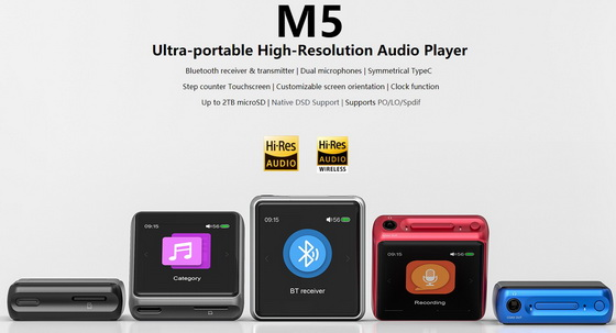 Download new firmware v1 2 0 for Fiio M5 Audio Player