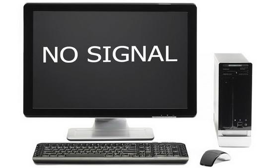 monitor has no image